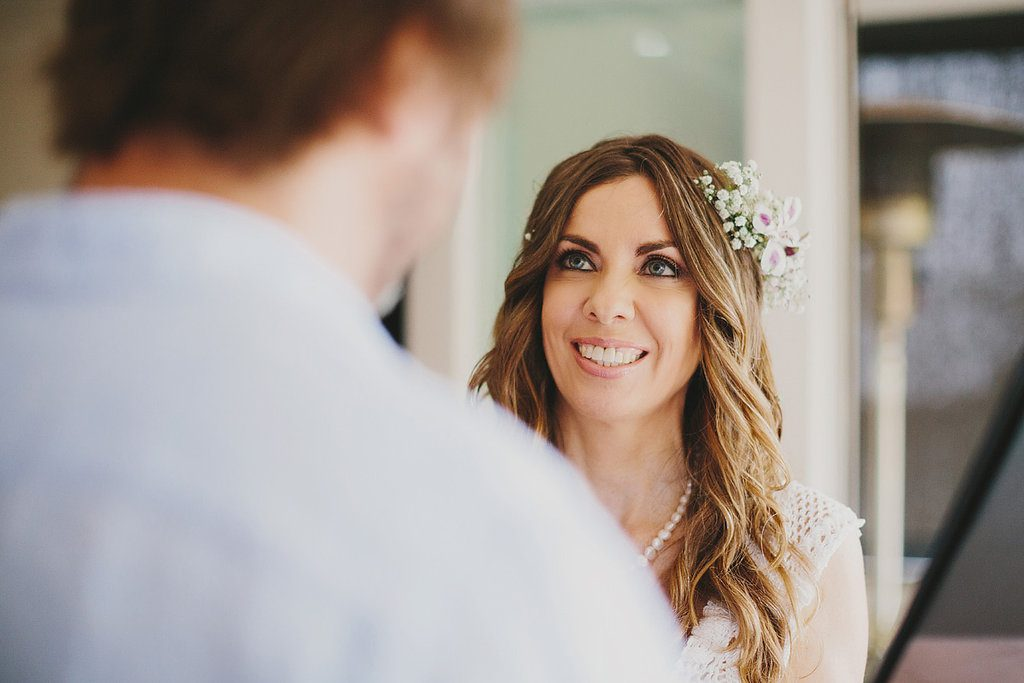 registry style wedding ceremony