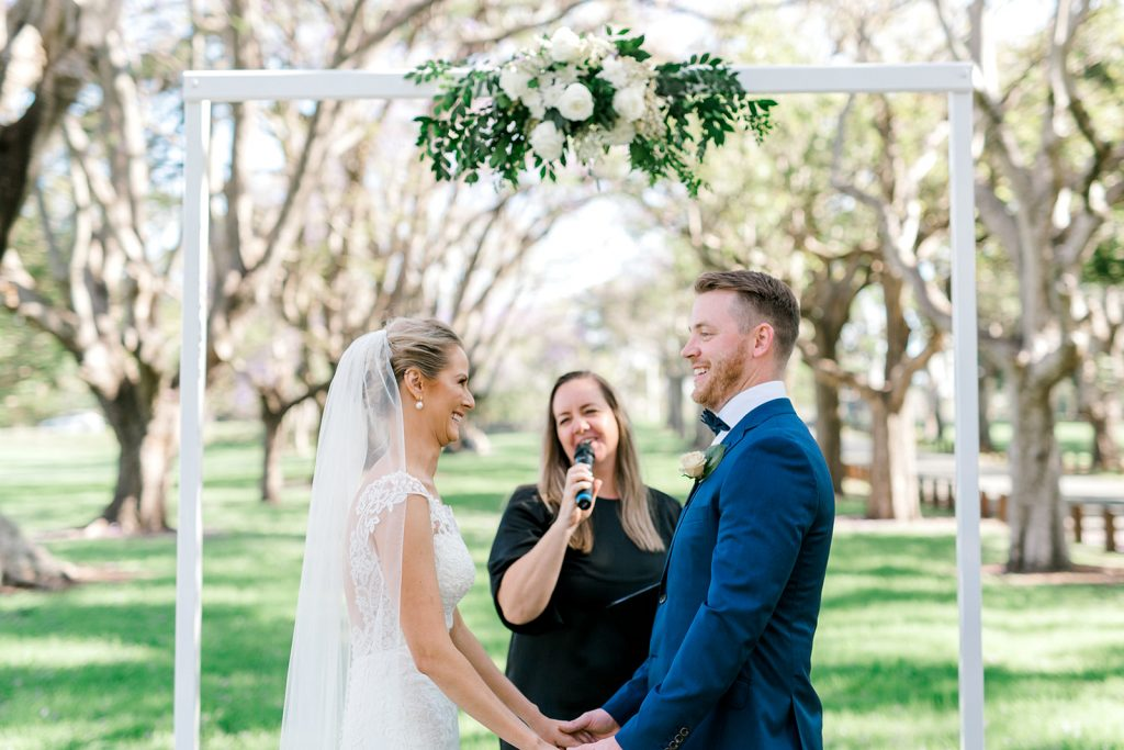 Brisbane park wedding ceremony