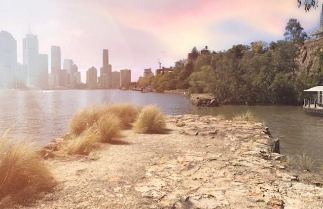 Brisbane river elopement