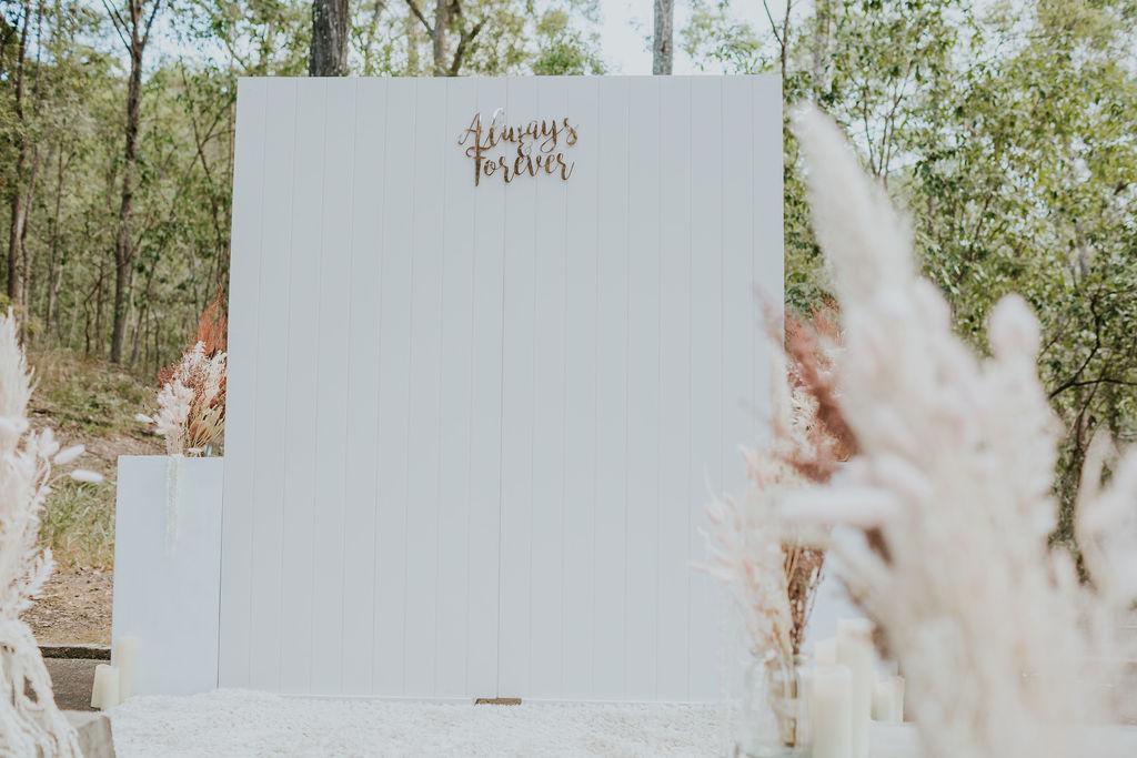 Hamptons style wedding backdrop